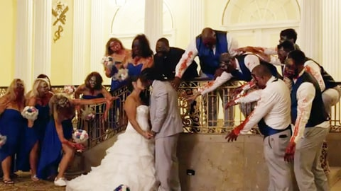 De Angelo Williams, Risalyn Williams and the Bridal Party