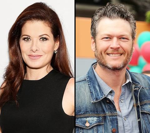 Debra Messing and Blake Shelton