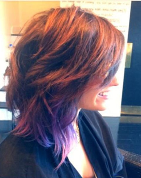 Demi Lovato hair cut