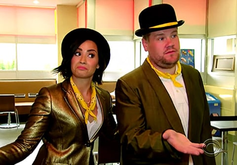james corden and demi lovato