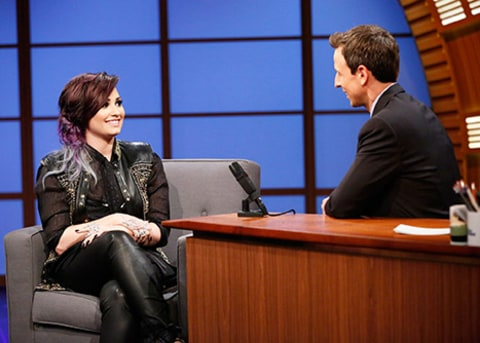 Demi Lovato on Seth Meyers