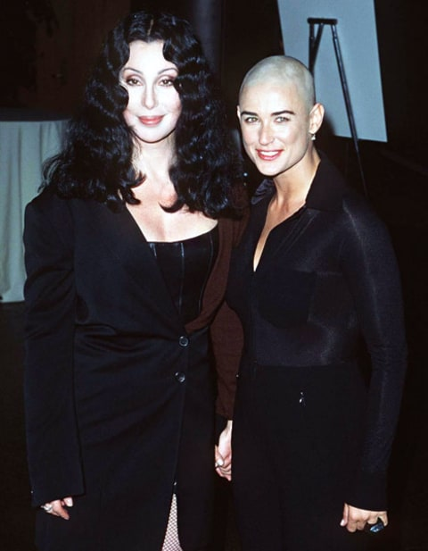 demi moore and cher in 1996