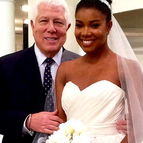 Dennis Basso and Gabrielle Union - wedding dress