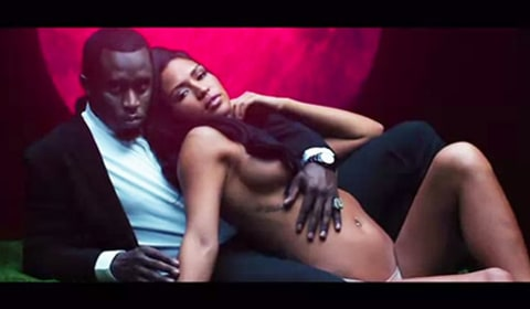 Diddy and Cassie NSFW fragrance ad