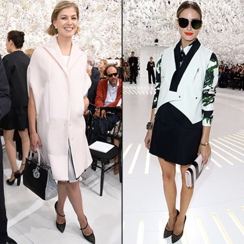 Rosamund and Olivia at Dior Fashion Show