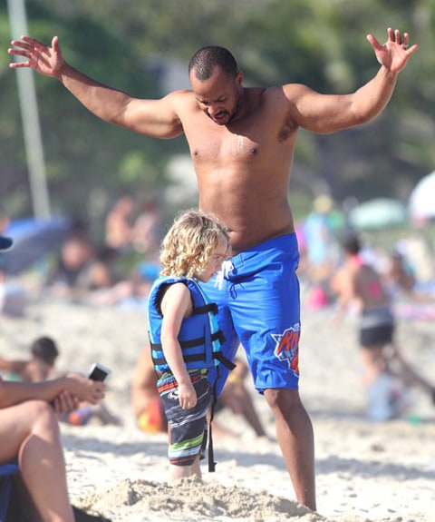 Donald faison on beach