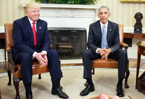 Image result for Donald Trump Tackles Barrack Obama Over Transition