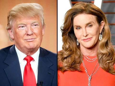 Donald Trump and Caitlyn Jenner