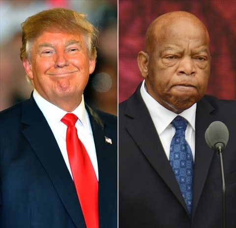 Donald Trump and John Lewis