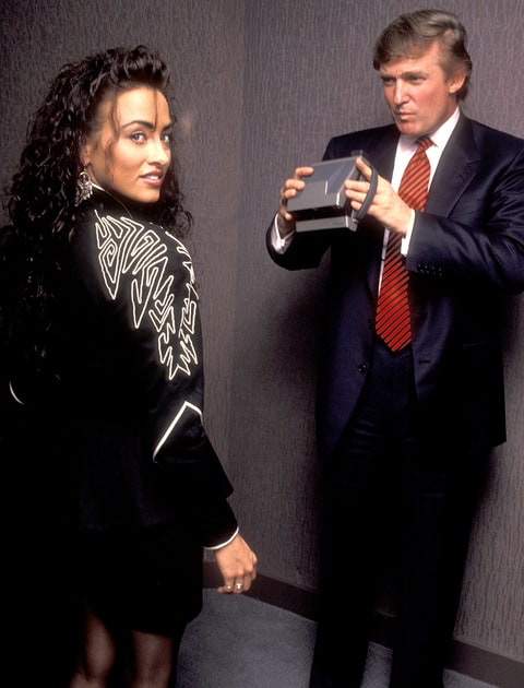 Donald Trump attends 40th Anniversary of Playboy Magazine Party on May 3, 1993 at the Park Hyatt Hotel in New York City.