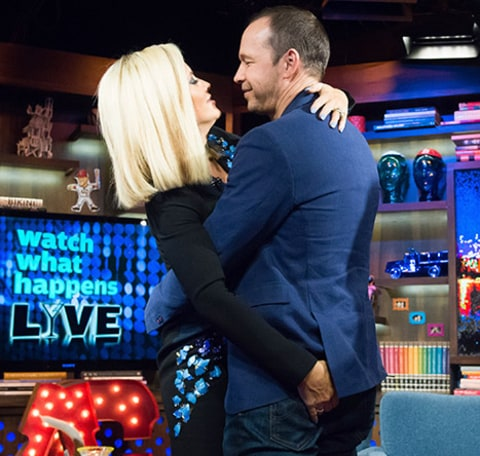 Donnie Wahlberg and Jenny McCarthy on WWHL