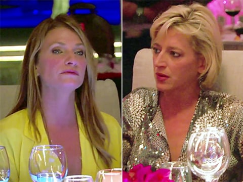 dorinda and heather on rhony fight