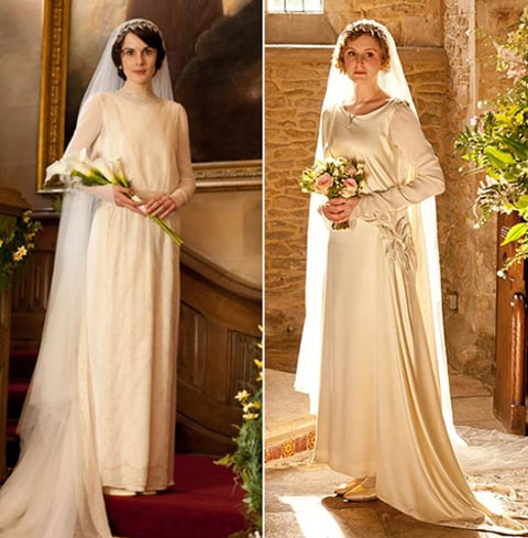 Ladies Mary & Edith Wedding Dress'