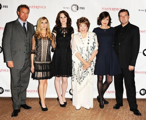 Downtown Abbey Cast with Shirley Maclaine