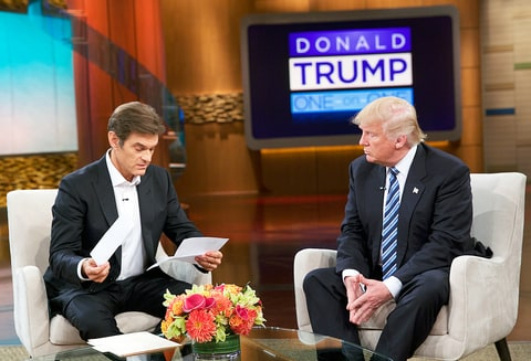 Donald Trump shares his medical records on-air with Dr. Oz