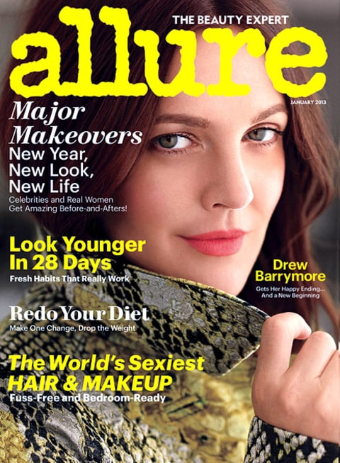 Drew Barrymore Allure Cover