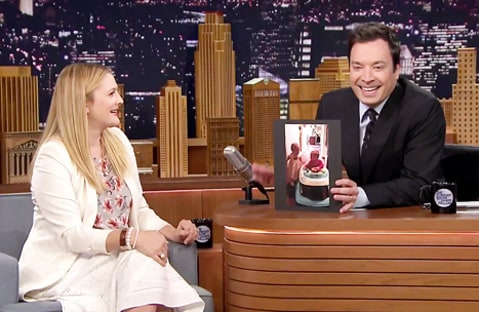 drew barrymore on fallon