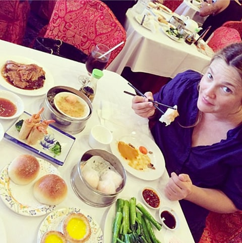 drew barrymore chinese food