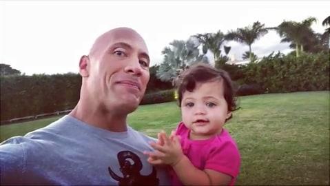 Dwayne'The Rock' Johnson and Jasmine