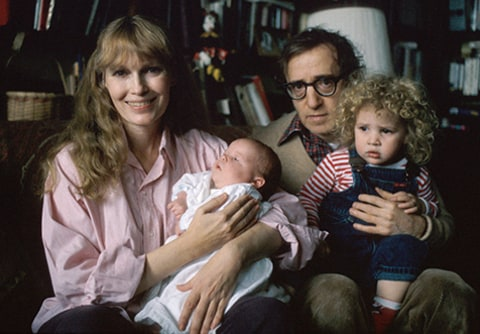 Woody Allen with Mia and Dylan Farrow