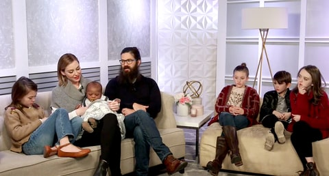 Jessica and Jep Robertson and family.
