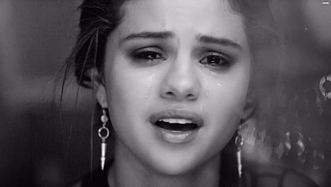 selena crying in new video