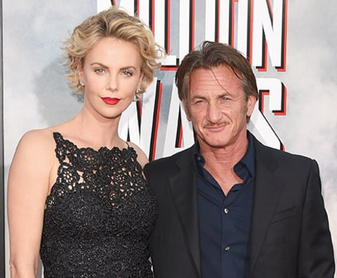 Charlize Theron and Sean Penn together