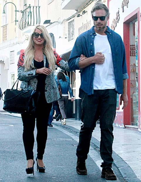 jessica simpson and eric johnson in capri