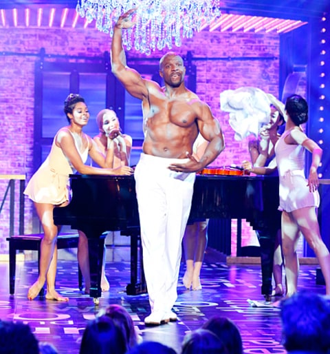 Terry Crews Shirtless on Lip Sync Battle