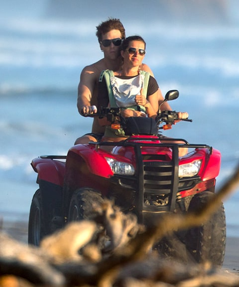 tom brady and gisele on the atv