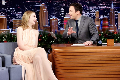 Elle Fanning Jimmy Fallon