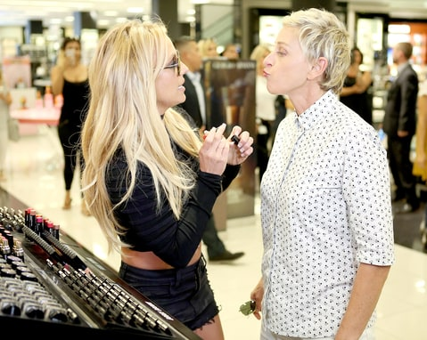 Ellen DeGeneres and Britney Spears Michael Rozman/Warner Bros.