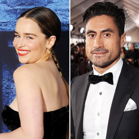 Emilia Clarke and Joe Naufahu