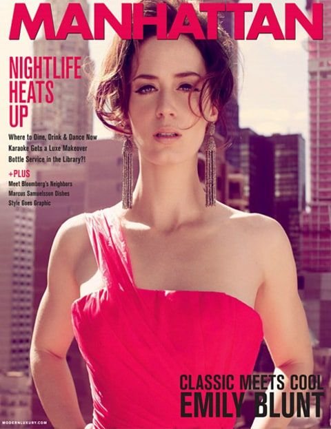 Emily Blunt on Manhattan magazine