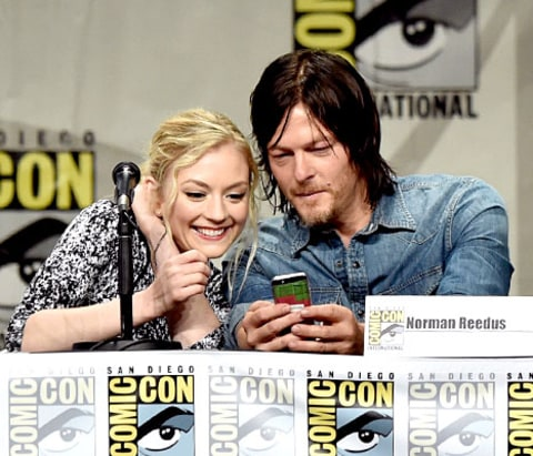 Emily Kinney and Norman Reedus - ComicCon