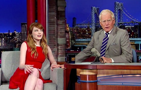 emma stone on letterman