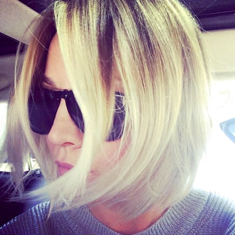 Kaley Cuoco Haircut Closeup
