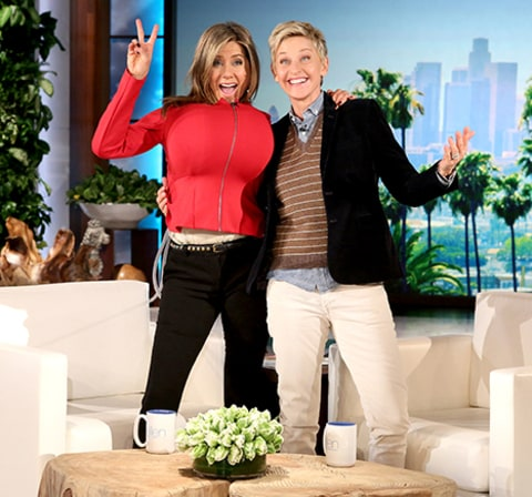 jennifer aniston and ellen