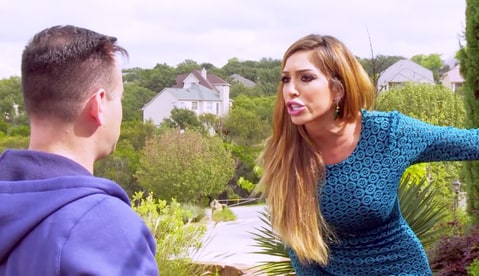 Farrah Abraham shouts at producers on Teen Mom OG.