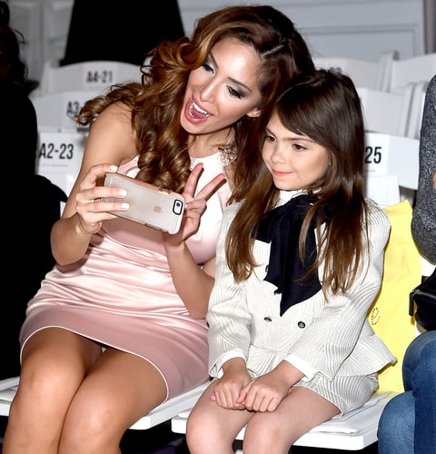 Farrah Abraham and her daughter Sophia Abraham attends Michelle Ann Kids + Bound By the Crown Couture Children's Wear fashion show.