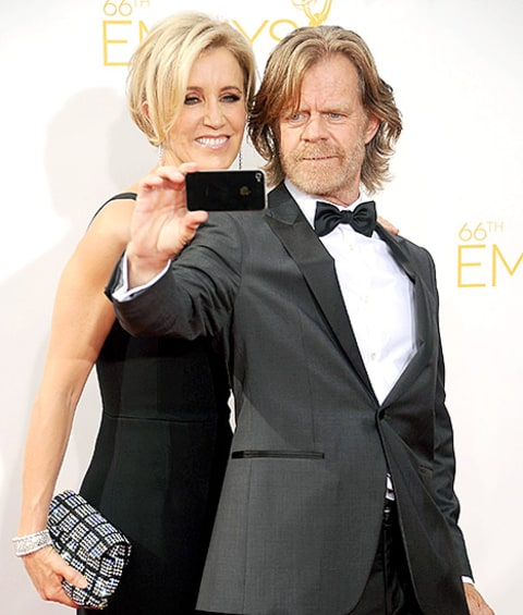 Felicity Huffman and William H. Macy selfie