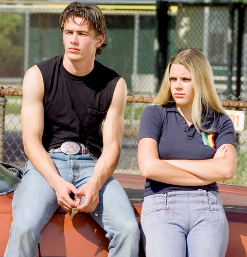 James Franco as Daniel Desario and Busy Philipps as Kim Kelly on 1999's Freaks And Geeks