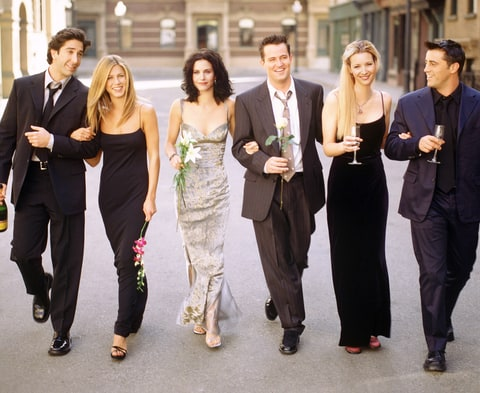 David Schwimmer, Jennifer Aniston, Courteney Cox,  Matthew Perry, Lisa Kudrow and Matt LeBlanc