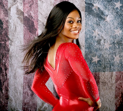 Gymnast Gabby Douglas poses for a portrait at the 2016 Team USA Media Summit at The Beverly Hilton Hotel on March 7, 2016 in Beverly Hills, California.