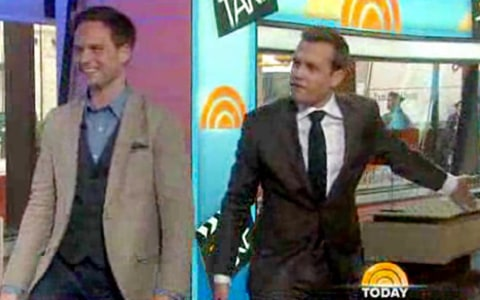 gabriel macht looking embarrassed