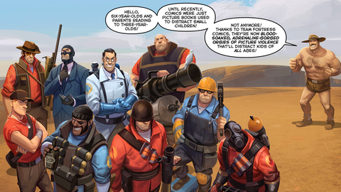 'Team Fortress 2' comic