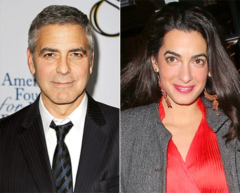 George Clooney with Amal Almuddin