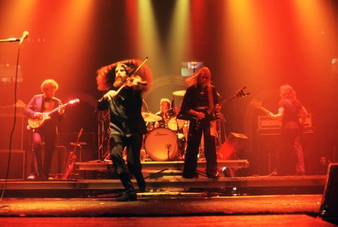 Kansas perform on stage 1978