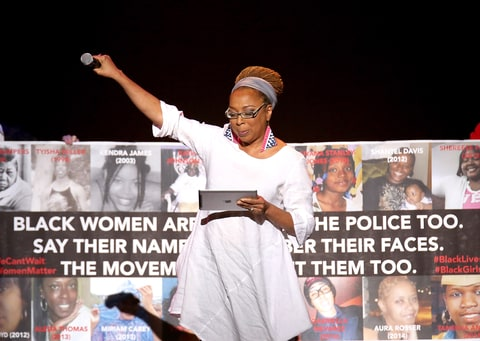 Kimberle Crenshaw speaks onstage at the 3rd Annual One Billion Rising: REVOLUTION at Hammerstein Ballroom on February 7, 2015 in New York City.