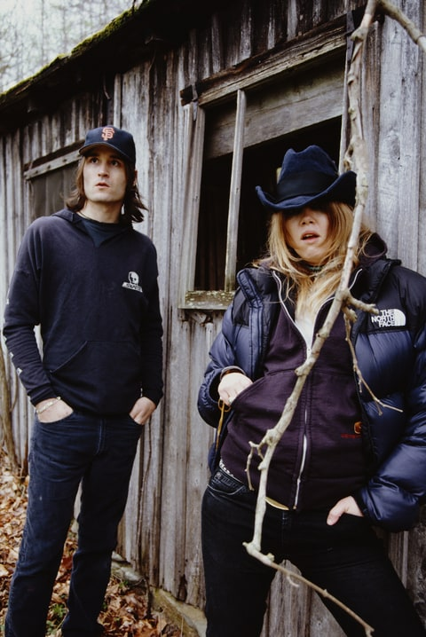 Guitarist Neil Hagerty and singer Jennifer Herrema of American alternative rock group Royal Trux, circa 2000.